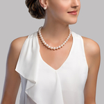 10-11mm White Freshwater Pearl Necklace - AAA Quality - Secondary Image