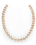 10-11mm Peach Freshwater Pearl Necklace - AAA Quality