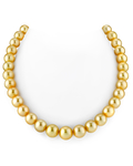 10-12mm Golden South Sea Pearl Necklace - AAAA Quality