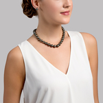 11-12mm Tahitian South Sea Pearl Necklace - AAA Quality - Model Image