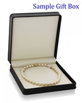 10-12mm Golden South Sea Pearl Necklace - AAAA Quality - Fourth Image
