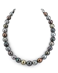 10-12mm Tahitian South Sea Multicolor Drop-Shape Pearl Necklace