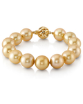 11-12mm Golden South Sea Pearl Bracelet