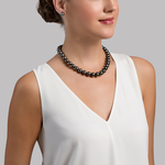 11-13mm Tahitian South Sea Pearl Necklace - Model Image