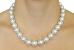 11-13mm White South Sea Pearl Necklace - Model Image