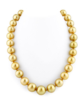 12-14mm Golden South Sea Pearl Necklace