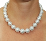17-18mm White South Sea Pearl Necklace - AAAA Quality - Model Image