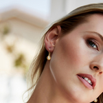Golden South Sea Pearl Linda Earrings - Model Image