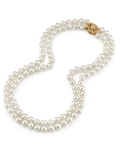 Japanese Akoya White Pearl Double Strand Necklace - Third Image
