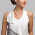 7-8mm Freshwater Choker Length Pearl Necklace & Earrings - Secondary Image