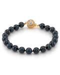 7.0-7.5mm Akoya Black Pearl Bracelet- Choose Your Quality - Third Image