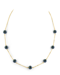 Japanese Akoya Black Pearl Tincup Necklace - Model Image
