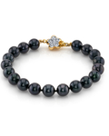 7.5-8.0mm Akoya Black Pearl Bracelet- Choose Your Quality - Third Image