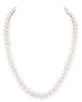 7.0-7.5mm White Freshwater Pearl Necklace - AAA Quality