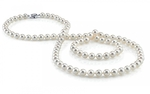 8.0-8.5mm Opera Length Japanese Akoya Pearl Necklace - Third Image