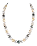 8-10mm South Sea Multicolor Pearl Necklace - AAAA Quality