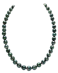 8-10mm Dark Tahitian South Sea Circle-Baroque Pearl Necklace