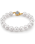 9-10mm White South Sea Pearl Bracelet - AAAA Quality - Secondary Image