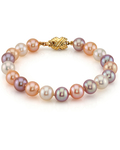 8-9mm Multicolor Freshwater Pearl Bracelet - AAAA Quality - Secondary Image