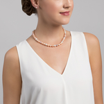 8-9mm Freshwater Multicolor Pearl Necklace - Secondary Image