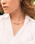 8-9mm Freshwater Multicolor Pearl Necklace - Model Image