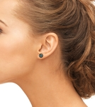 8mm Tahitian South Sea Pearl Stud Earrings- Various Colors - Third Image