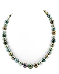 9-11mm Tahitian South Sea Multicolor Pearl Necklace - AAAA Quality