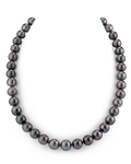 9-11mm Eggplant Tahitian South Sea Pearl Necklace - AAAA Quality
