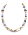 9-11mm Tahitian & Freshwater Multicolor Pearl Necklace - AAA Quality