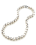 9.5-10mm Japanese Akoya White Pearl Necklace- AA+ Quality