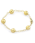 Golden South Sea Round Pearl Tincup Bracelet