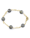 9-10mm Tahitian South Sea Pearl Tincup Bracelet - Secondary Image