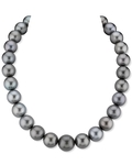 13-16mm Black Tahitian South Sea Pearl Necklace - AAAA Quality