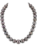 11-14mm Peacock Tahitian South Sea Pearl Necklace - AAA Quality