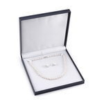 9-10mm Freshwater Pearl Necklace & Earrings - Third Image