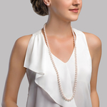 8.5-9.0mm Opera Length Japanese Akoya Pearl Necklace - Secondary Image