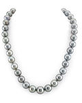 10-12mm Silver Tahitian South Sea Pearl Necklace- AAAA Quality