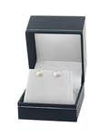 7.5-8.0mm White Akoya Pearl Stud Earrings - Fourth Image