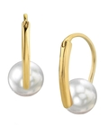 White South Sea Pearl Heather Earrings - Model Image