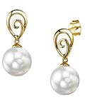 South Sea Pearl Autumn Earrings - Model Image