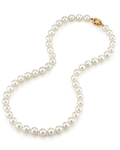 8.0-8.5mm Japanese Akoya White Pearl Necklace- AA+ Quality - Third Image