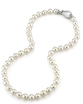8.5-9.0mm Japanese Akoya White Pearl Necklace- AA+ Quality