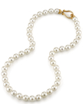 8.5-9.0mm Japanese Akoya White Pearl Necklace- AA+ Quality - Third Image