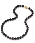8.5-9.0mm Japanese Akoya Black Pearl Necklace - AA+ Quality - Third Image