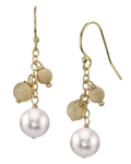 Japanese Akoya Pearl Stardust Earrings-Gold Filled