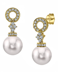 Akoya Pearl & Diamond Vanessa Earrings - Model Image