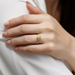 Golden South Sea Pearl & Diamond Jordana Ring - Model Image