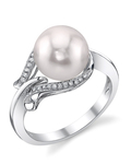 Akoya Pearl & Diamond Willow Ring