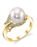 Akoya Pearl & Diamond Willow Ring - Third Image