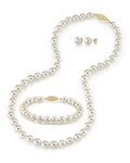 8.5-9.0mm Japanese Akoya White Pearl Set - Secondary Image